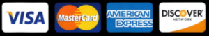 Visa Mastercard Amex Discover accepted